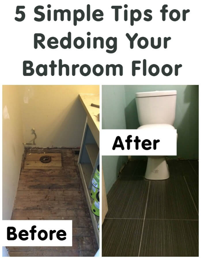 TOTS Family, Parenting, Kids, Food, Crafts, DIY and Travel 5-Simple-Tips-for-Redoing-Your-Bathroom-Floor 5 Simple Tips for Redoing Your Bathroom Floor #totsreno Home  update renovation reno remodeling floor diy bathroom #totsreno