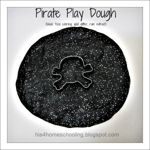 Black Pirate Play Dough - Introducing the Color Black into Daily Activities