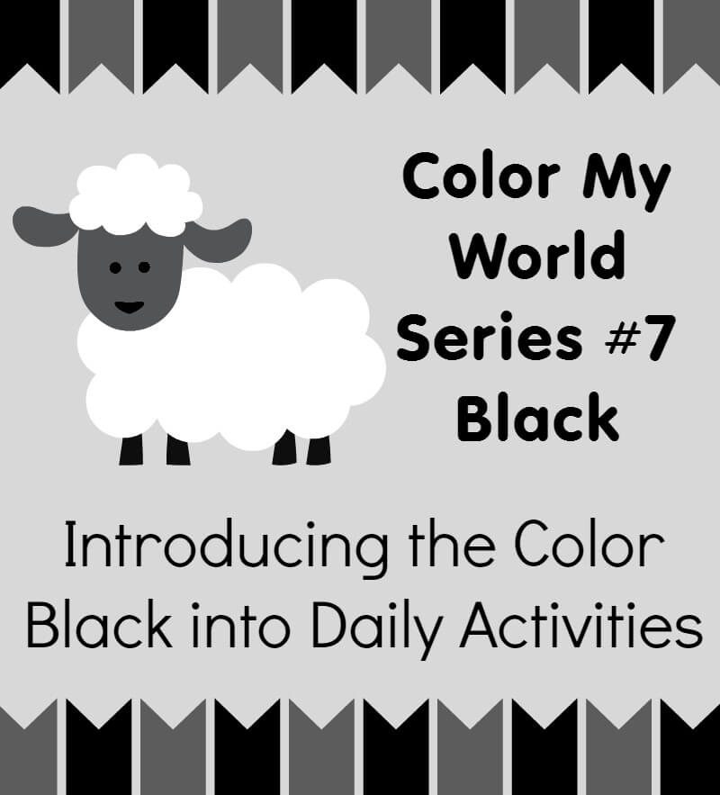 Color My World Series #7 ~ Black. Introducing the Color Black into Daily Activities.