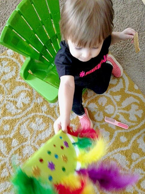 DIY Kids Mardi Gras Noise Maker Craft