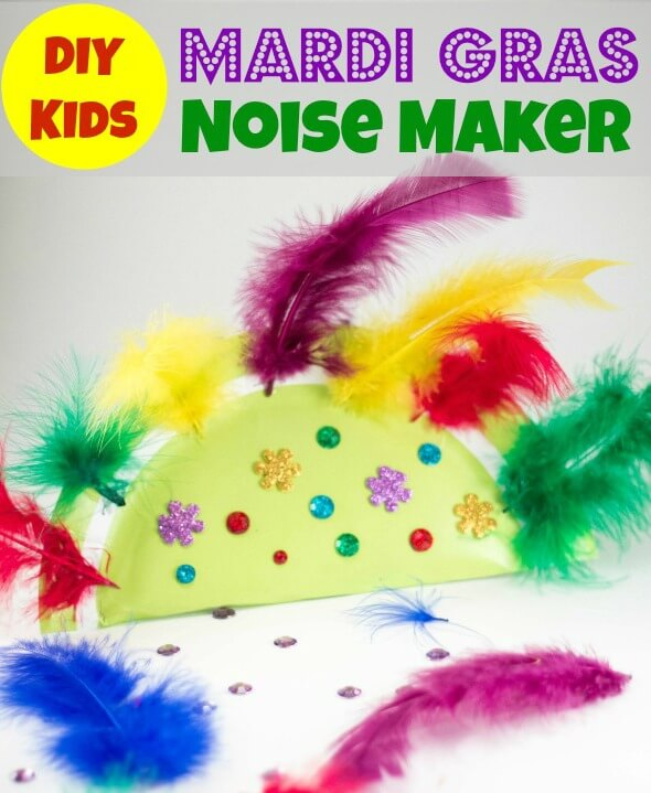 TOTS Family, Parenting, Kids, Food, Crafts, DIY and Travel Diy-Kids-Mardi-Gras-Noise-Maker Kids Mardi Gras Noise Maker Craft Kids  toddler kids holiday diy crafts children activities