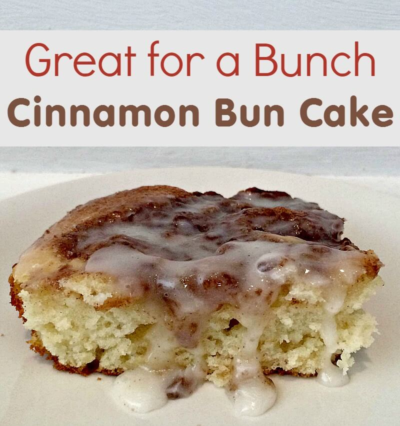 TOTS Family, Parenting, Kids, Food, Crafts, DIY and Travel Great-for-a-Bunch-Cinnamon-Bun-Cake Great for a Bunch Cinnamon Bun Cake Breakfast Desserts Food Holiday Treats Miscellaneous Recipes  recipe cinnamon bun cake brunch breakfast