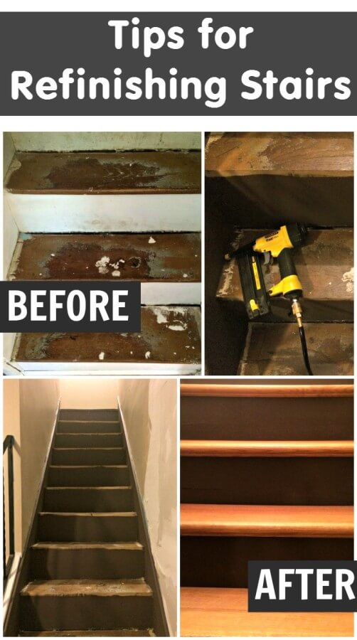 TOTS Family, Parenting, Kids, Food, Crafts, DIY and Travel It-is-easier-than-you-think-to-refinish-your-stairs.-Find-out-how-we-took-our-stairs-from-ugly-to-beautiful.- Tips for Refinishing Stairs Home TOTS Family  stairs reno refinishing stairs diy #totsreno