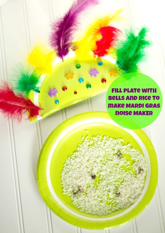 TOTS Family, Parenting, Kids, Food, Crafts, DIY and Travel Mardi-Gras-Noise-Maker-Supplies Kids Mardi Gras Noise Maker Craft Kids  toddler kids holiday diy crafts children activities