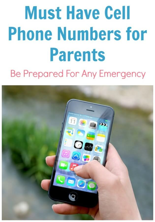 Must Have Cell Phone Numbers for Parents