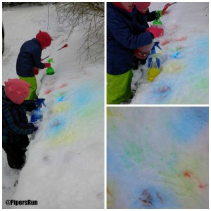 snow paint girls