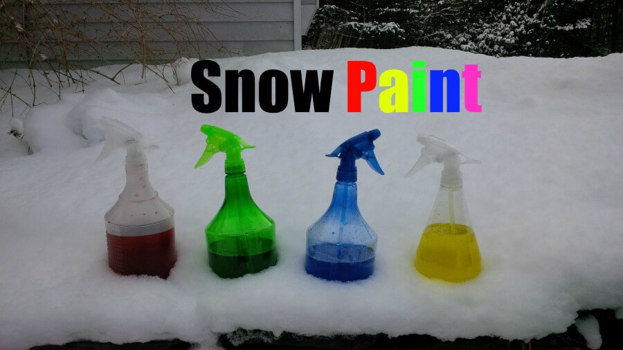 TOTS Family, Parenting, Kids, Food, Crafts, DIY and Travel snow-paint DIY Snow Paint Crafts Kids  winter activities snow paint outdoor paint kids activities active family