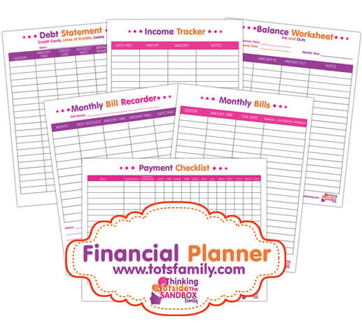 This Financial Planner Printable has everything you need to get control of your finances. Seriously pin now so you have it.