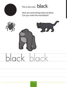 writing-colors-black-fine-motor - Introducing the Color Black into Daily Activities