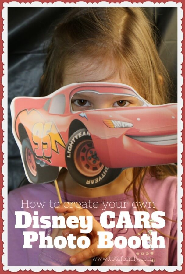 TOTS Family, Parenting, Kids, Food, Crafts, DIY and Travel Cars-photo-booth Disney CARS Photo Booth: Party Activity #DisneySide Kids Parenting TOTS Family Uncategorized  photo booth party planning party ideas lightening mcqueen disney side disney cars
