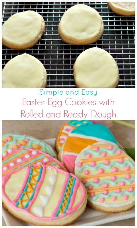 Easter Egg Cookies with Rolled and Ready Dough