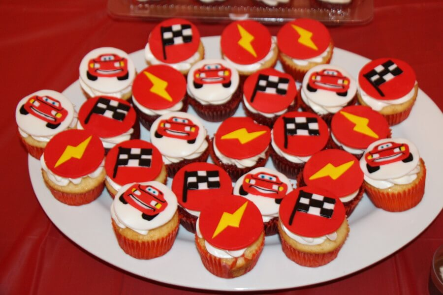 Lightening McQueen Cupcakes by Original Cake Designs