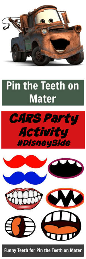 TOTS Family, Parenting, Kids, Food, Crafts, DIY and Travel Pin-The-Mouth-On-Mater-Image Disney CARS Party Ideas: Pin The Mouth On Mater #DisneySide Crafts Kids TOTS Family Uncategorized  party planning party mater lightening mcqueen disneyside Disney Cars disney cars birthday party activities