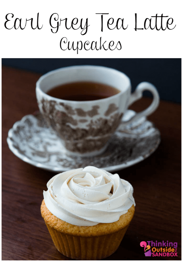TOTS Earl Grey Tea Latte Cupcake