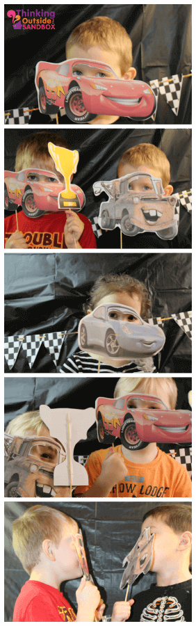 TOTS Family, Parenting, Kids, Food, Crafts, DIY and Travel photo-booth Disney CARS Photo Booth: Party Activity #DisneySide Kids Parenting TOTS Family Uncategorized  photo booth party planning party ideas lightening mcqueen disney side disney cars