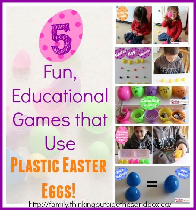 5 Fun Educational Games that Use Plastic Easter Eggs--use them for more than just candy!