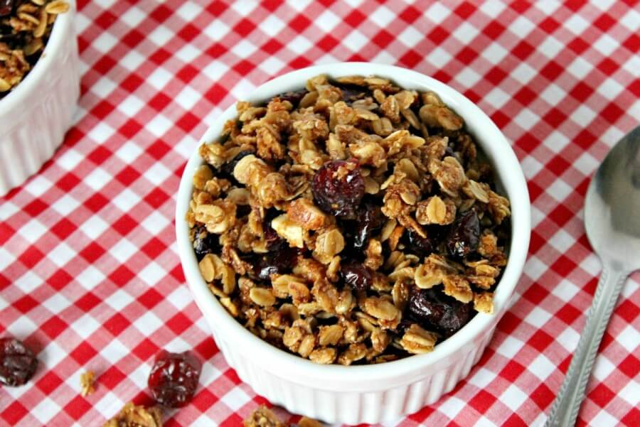 TOTS Family, Parenting, Kids, Food, Crafts, DIY and Travel Cranberry_Almond_granola1 Cranberry Almond Granola Cereal Recipe Breakfast Food TOTS Family  recipe homemade granola cereal breakfast