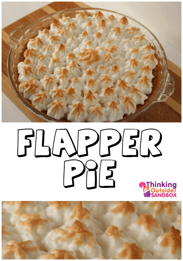 One of the first pies I ever made was a family favorite. It's called Flapper pie. A Graham wafer crust, with homemade custard, topped with meringue. It's incredibaly tasty, and I can honestly say, once you try it, you will want more.