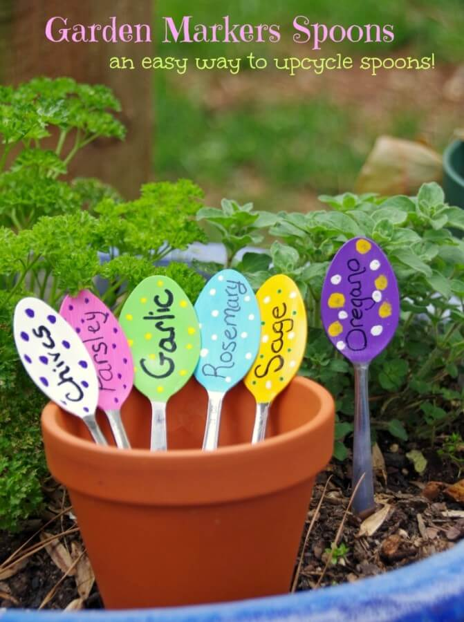 TOTS Family, Parenting, Kids, Food, Crafts, DIY and Travel Garden-Markers-Spoons-Craft-4-763x1024 12 Earth Day Kids Activities Food Kids TOTS Family  kids activities holiday games earth day crafts