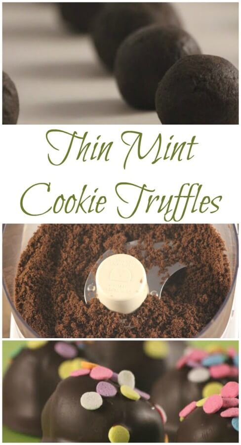 TOTS Family, Parenting, Kids, Food, Crafts, DIY and Travel Thin-Mint-Cookie-Truffles Thin Mint Truffle Recipe Desserts Food TOTS Family  truffle thin mints recipe food dessert cookie