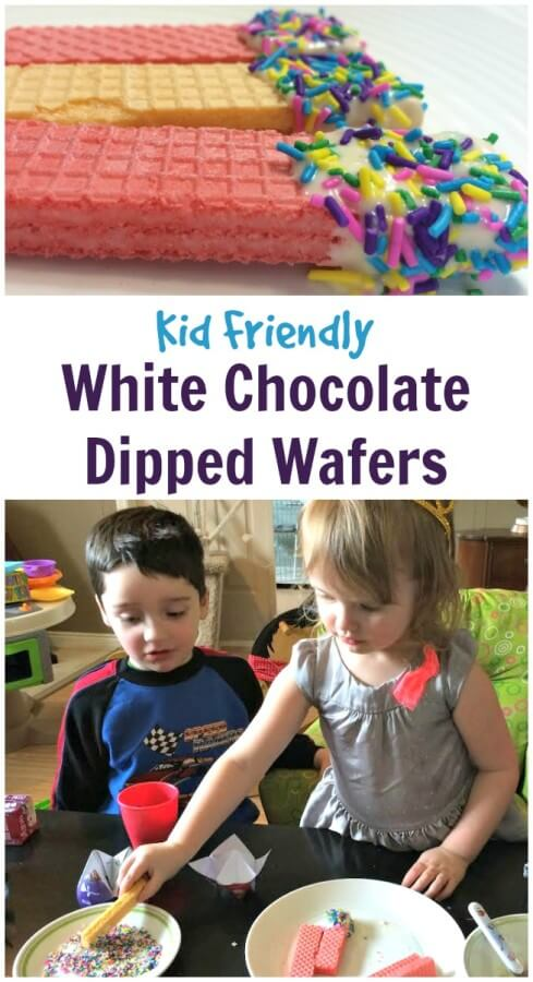 White Chocolate Dipped Wafers