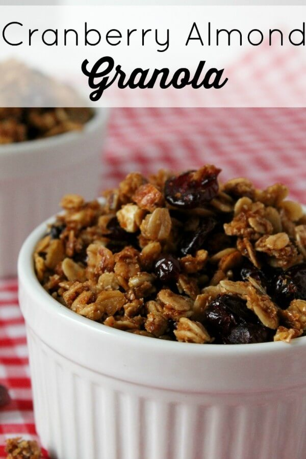 OurCranberry Almond Granola Cereal Recipe helps make Breakfast easy on busy mornings.