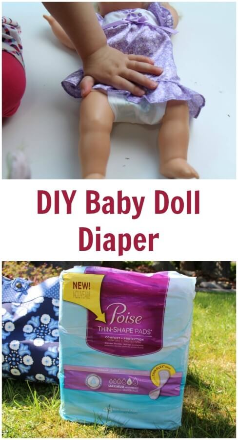 TOTS Family, Parenting, Kids, Food, Crafts, DIY and Travel DIY-Baby-Doll-Diaper DIY Baby Doll Diaper #RecycleYourPeriodPad Parenting TOTS Family  poise lbl doll diaper