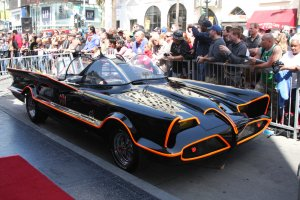 Batmobile at the Adam West Hollywood Walk of Fame Star Cerem