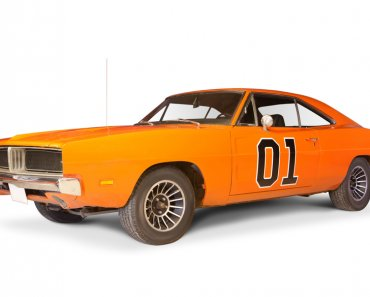 "Famous car ""General Lee"" from The Dukes of Hazzard, replica."