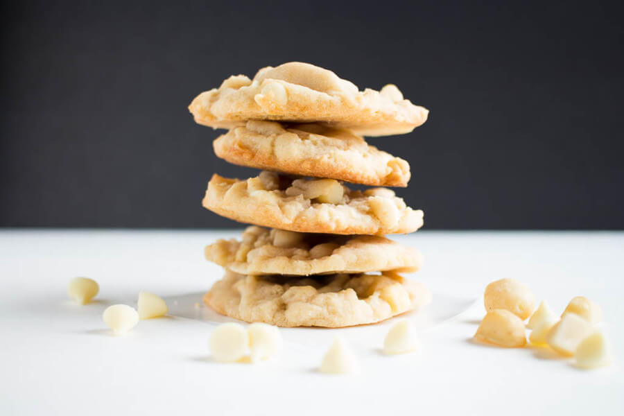 White Chocolate & Macadamia Nut Cookies