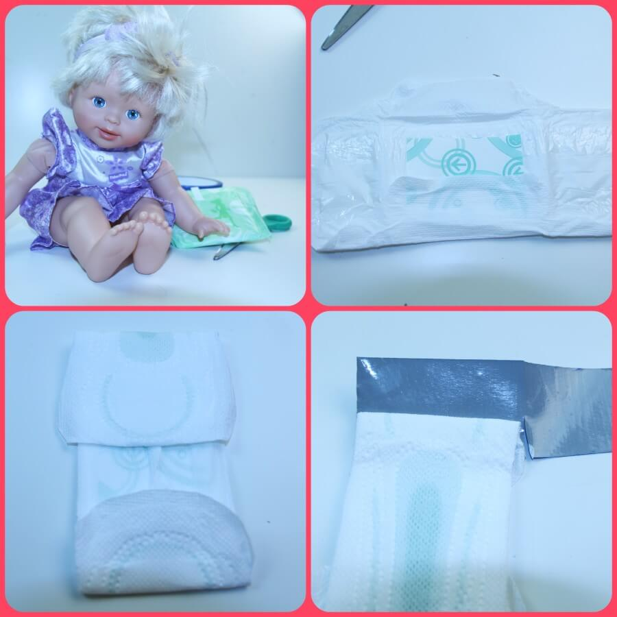 TOTS Family, Parenting, Kids, Food, Crafts, DIY and Travel Poise-Collage DIY Baby Doll Diaper #RecycleYourPeriodPad Parenting TOTS Family  poise lbl doll diaper