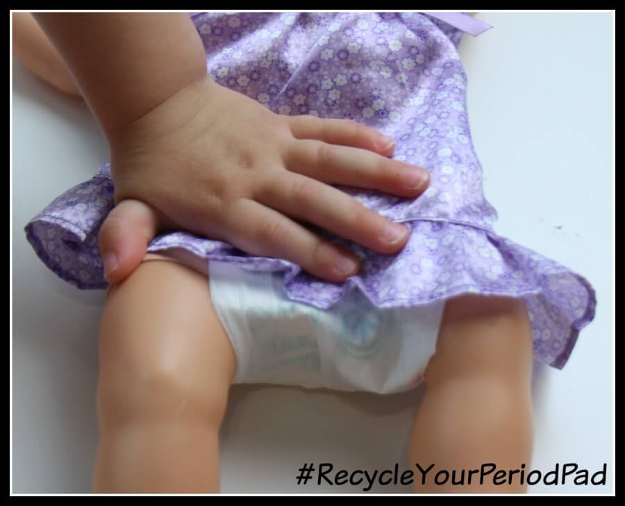 TOTS Family, Parenting, Kids, Food, Crafts, DIY and Travel RecycleYourPeriodPad DIY Baby Doll Diaper #RecycleYourPeriodPad Parenting TOTS Family  poise lbl doll diaper