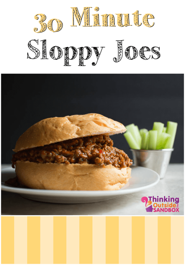 30 Minute Sloppy Joes