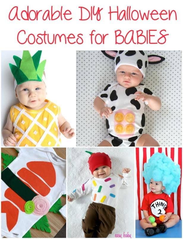 When my daughter was a baby we looked for Costume Ideas for Babies and bought her a few different costumes (over excited first-time parents).