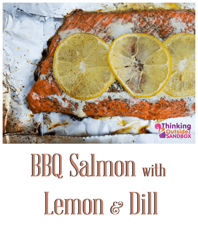 I get tired of the same old barbecued foods and absolutely love BBQ Salmon with Lemon and Dill.