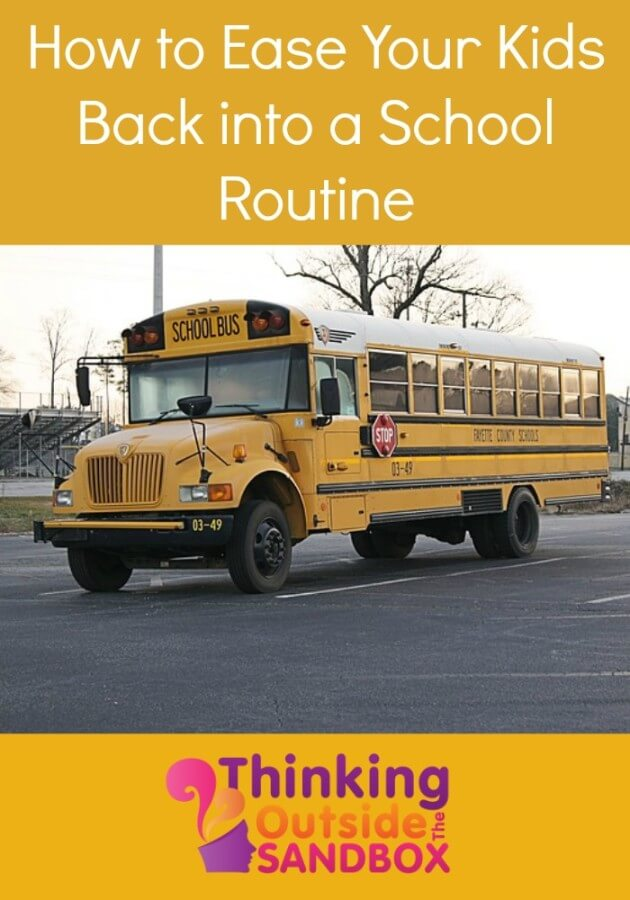 How to Ease Your Kids Back into a School Routine