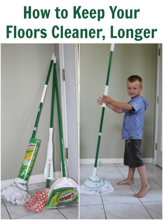 TOTS Family, Parenting, Kids, Food, Crafts, DIY and Travel How-to-Keep-Your-Floors-Cleaner-Longer How to Keep Your Floors Cleaner, Longer Home TOTS Family  mop libman floors dirty cleaning broom