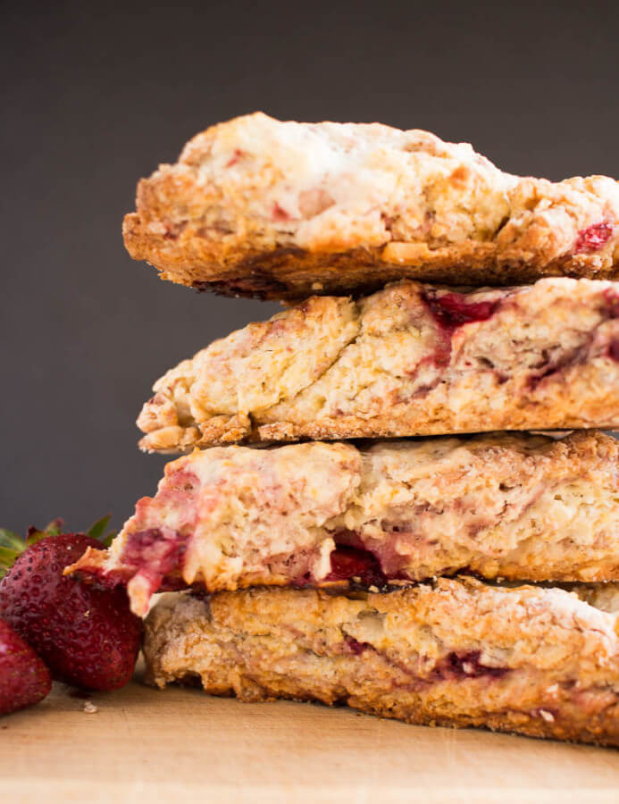 Very Berry Strawberry Scones