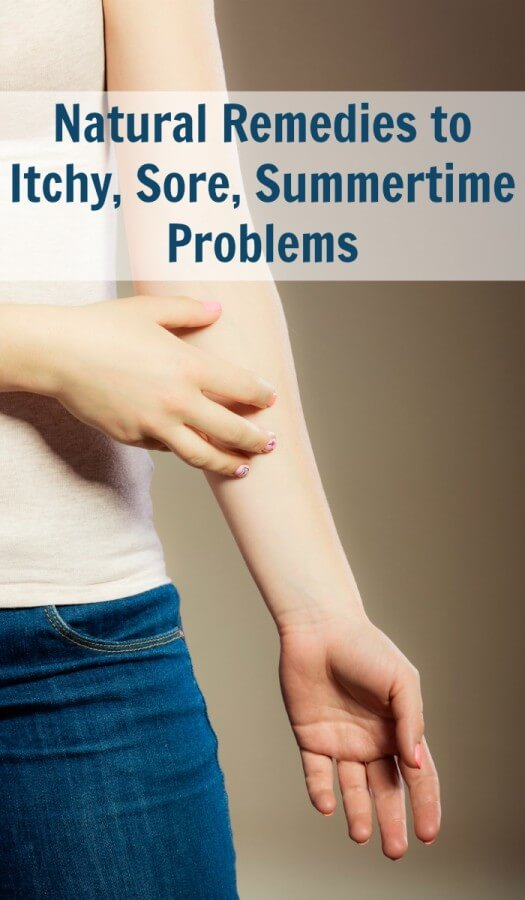 Natural Remedies to Itchy, Sore, Summertime Problems.