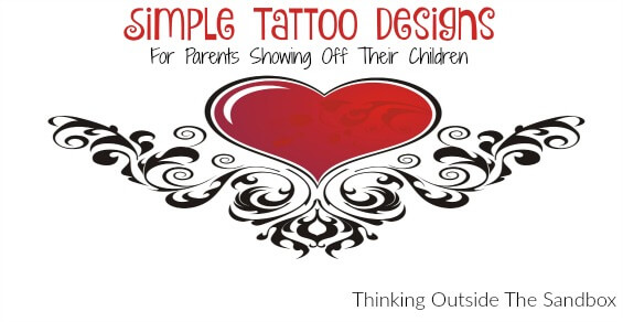 We love these Simple Tattoo Designs for parents showing off their children are so fun and great choices to honor your babies forever!