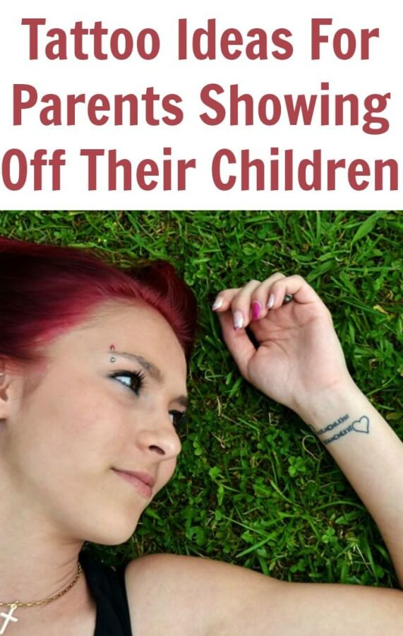 Tattoo Ideas for Parents Showing off Their Children