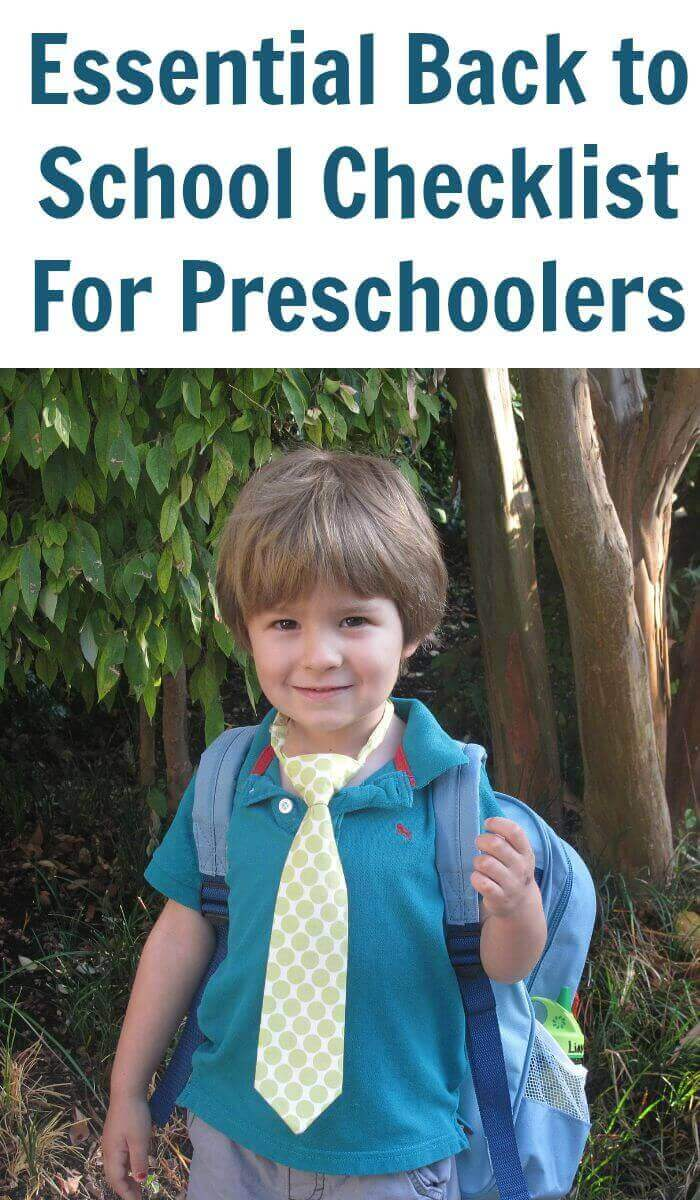 Essential Back to School Checklist For Preschoolers