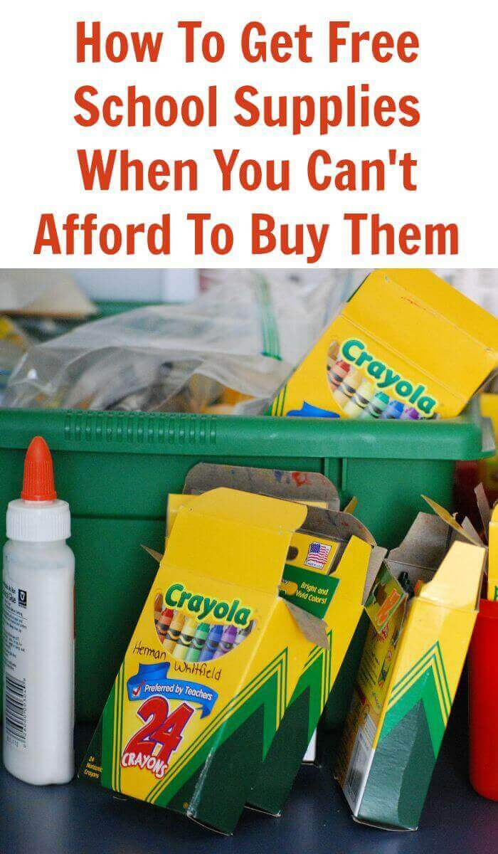 How To Get Free School Supplies When You Can't Afford To Buy Them