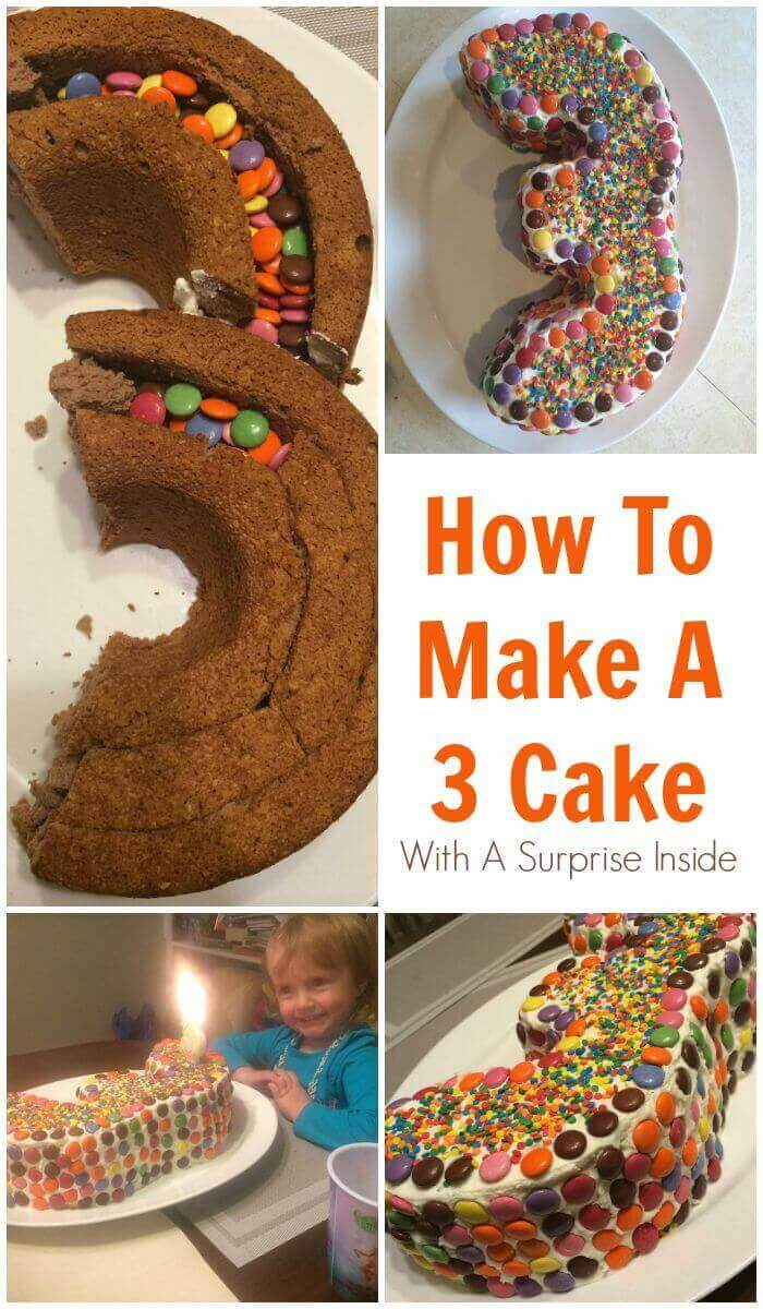 How To Make A 3 Cake With A Surprise Inside