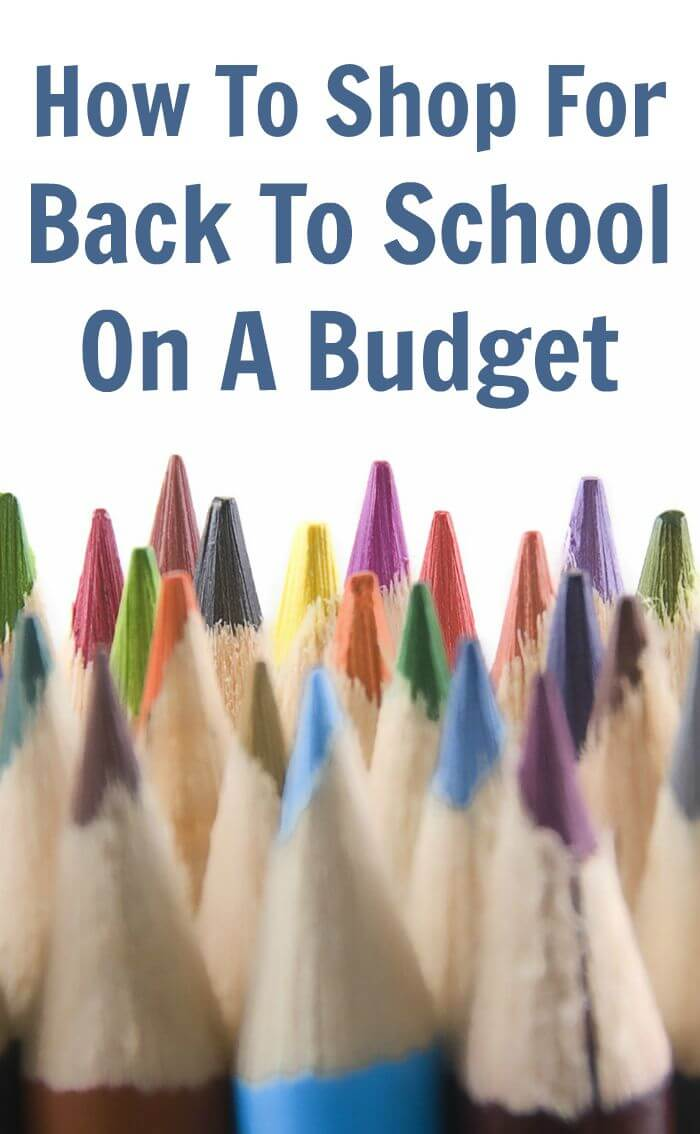 How To Shop For Back To School On A Budget