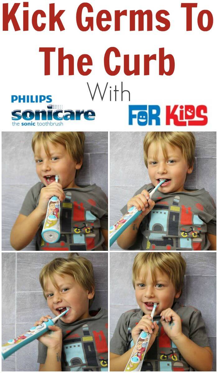 TOTS Family, Parenting, Kids, Food, Crafts, DIY and Travel Kick-Germs-To-The-Curb Kick Germs To The Curb With Philips Sonicare For Kids Home Kids Sponsored TOTS Family  sonicare powerbrush philips oral health electric toothbrush diamondclean dentist