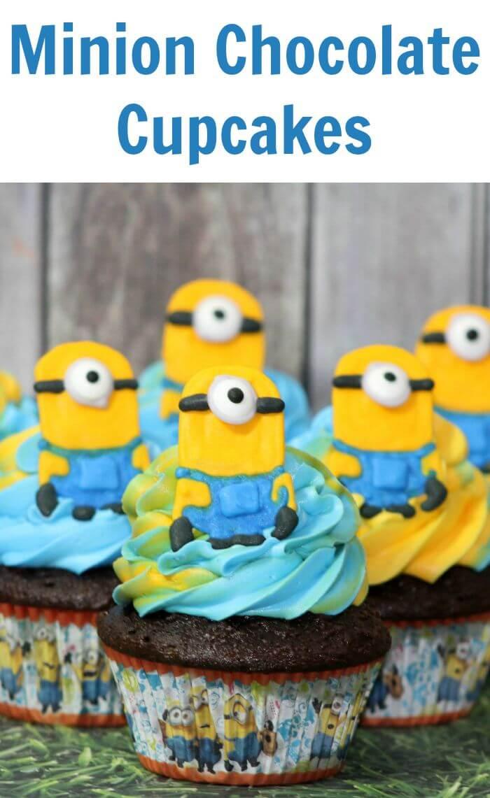 Minion Chocolate Cupcakes