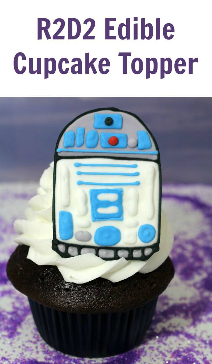 TOTS Family, Parenting, Kids, Food, Crafts, DIY and Travel R2D2-Edible-Cupcake-Topper R2D2 Edible Cupcake Topper Desserts Food Miscellaneous Recipes TOTS Family  recipe food dessert cupcakes