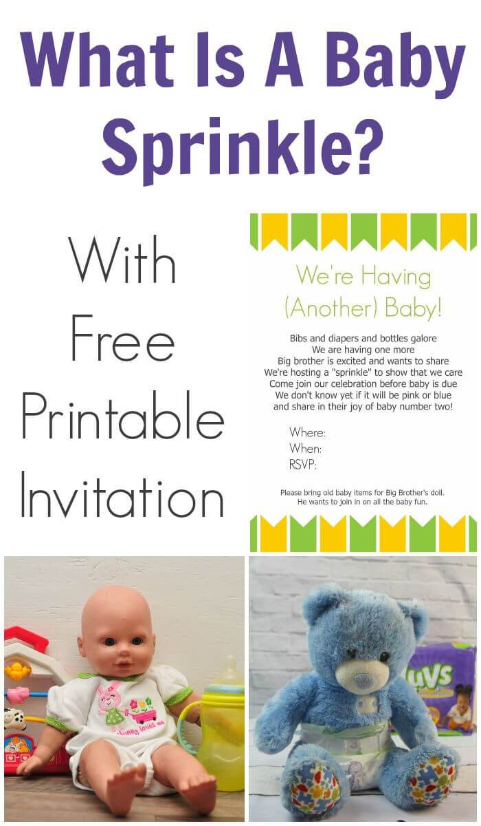 What Is A Baby Sprinkle With Free Printable Invitation
