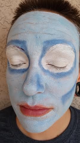 Corpse Bride Makeup Step 1